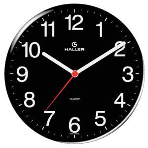 Relógio de Parede Disco 5608/02 22cm Preto - Haller