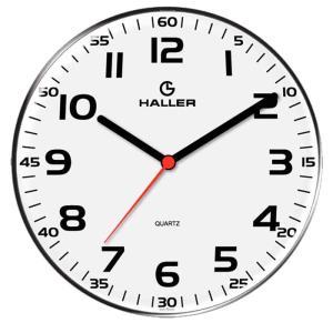 Relógio de Parede Disco 5609/01 22cm Branco - Haller