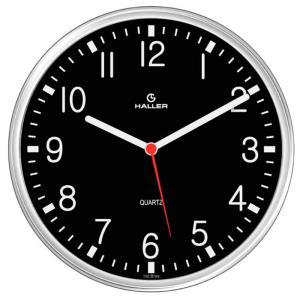 Relógio de Parede Disco Aviador 5611/02 22cm Preto - Haller