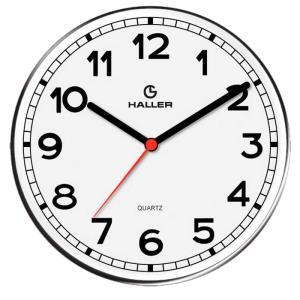 Relógio de Parede Disco New York 5395/01 22cm Branco - Haller