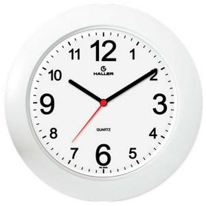 Relógio de Parede Saturno 5384/01 29cm Branco - Haller