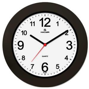 Relógio de Parede Saturno 5384/02 29cm Preto e Branco - Haller