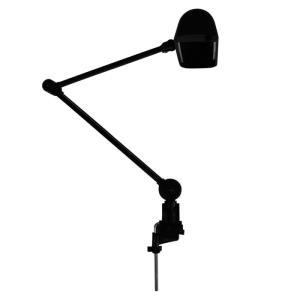 Luminária Articulada com Garra 387 Preta - Ilutec