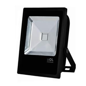 Refletor de Led 10W Branco Frio 6500K IP65 Preto Bivolt - OL Iluminação