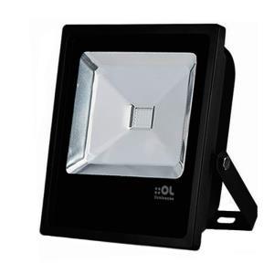 Refletor de Led 20W Branco Frio 6500K IP65 Preto Bivolt - OL Iluminação