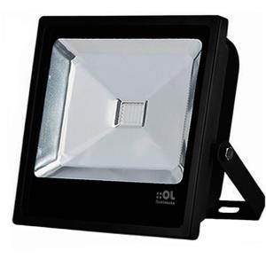 Refletor de Led 70W Branco Frio 6500K IP65 Preto Bivolt - OL Iluminação