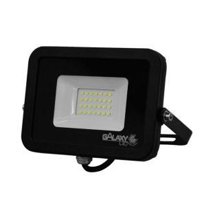 Refletor de Led 30W Slim Luz Branca 6500K IP65 Preto Bivolt - GalaxyLED