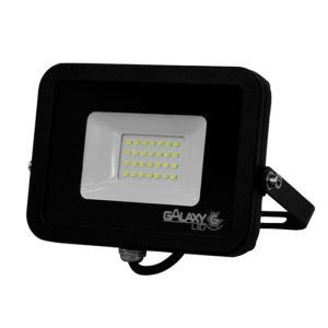 Refletor de Led 50W Slim Luz Fria 6500K IP65 Preto Bivolt - GalaxyLED