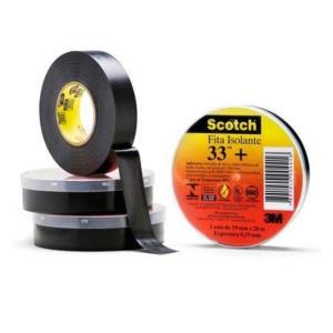 Fita Isolante Scotch 33+ Preta - 3M