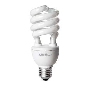 Lâmpada Eletrônica Espiral 59W 127V E27 Branca - OuroLux