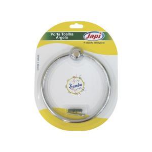 Porta Toalha Plástico Argola Samba Cromada JASC  - Japi