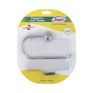 Papeleira Plástica Samba Cromada JPSC - Japi