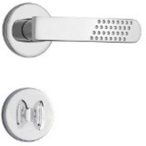Fechadura para Banheiro com Roseta Inox 823/21  - Stam