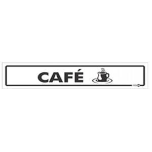 Placa de Sinalização Plástico 6,5x30cm Café PS39 - Encartale