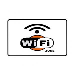 Placa de Sinalização Plástico 15x20cm WiFi PS633 - Encartale