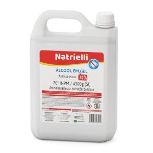 Álcool Gel 70% 5Lts - Natrielli