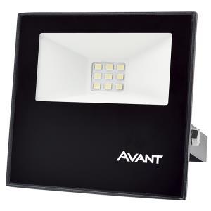 Refletor de Led Slim 10W Branco Frio 6500K IP65 Preto Bivolt - Avant