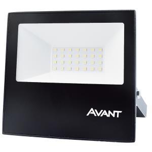 Refletor de Led Slim 30W Branco Frio 6500K IP65 Preto Bivolt - Avant