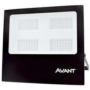 Refletor de Led Slim 200W Branco Frio 6500K IP65 Preto Bivolt - Avant