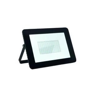 Refletor de Led 100w Slim Branco Frio 6500k Ip65 Preto Bivolt  - GalaxyLED