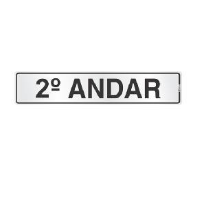 Placa de Sinalização Alumínio 05x25cm 2 Andar C05048 - Indika