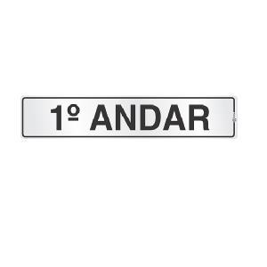 Placa de Sinalização Alumínio 05x25cm 1 Andar C05047 - Indika