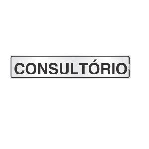 Placa de Sinalização Alumínio 05x25cm Consultório C05004 - Indika