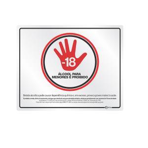 Placa de Sinalização Alumínio 20x25cm Proibido Álcool C20005 - Indika