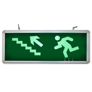 Placa de Sinalização para Escada de Emergência À Esquerda de LED UN-04 - UNIK Iluminação