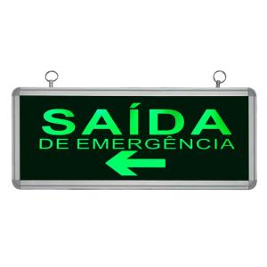 Placa de Sinalização para Saída de Emergência À Esquerda de LED UN-07 - UNIK Iluminação