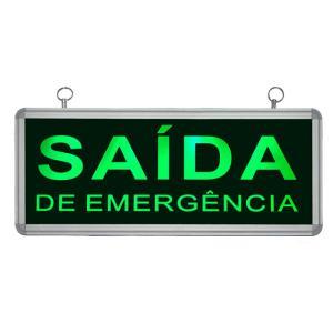 Placa de Sinalização para Saída de Emergência de LED UN-10 - UNIK Iluminação
