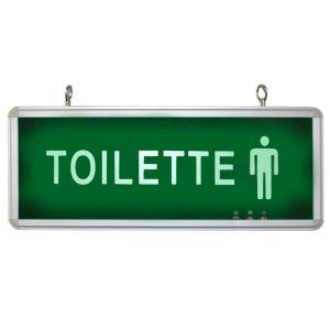 Placa de Sinalização para Toilette Masculino de LED UN-21 - UNIK Iluminação