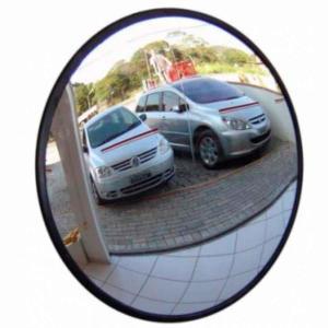 Espelho Convexo de 30cm com Borda de Borracha - Ligação